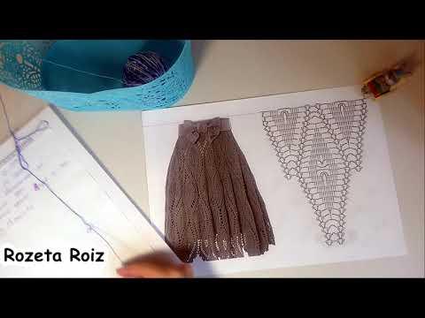 Летняя юбка крючком часть 1
