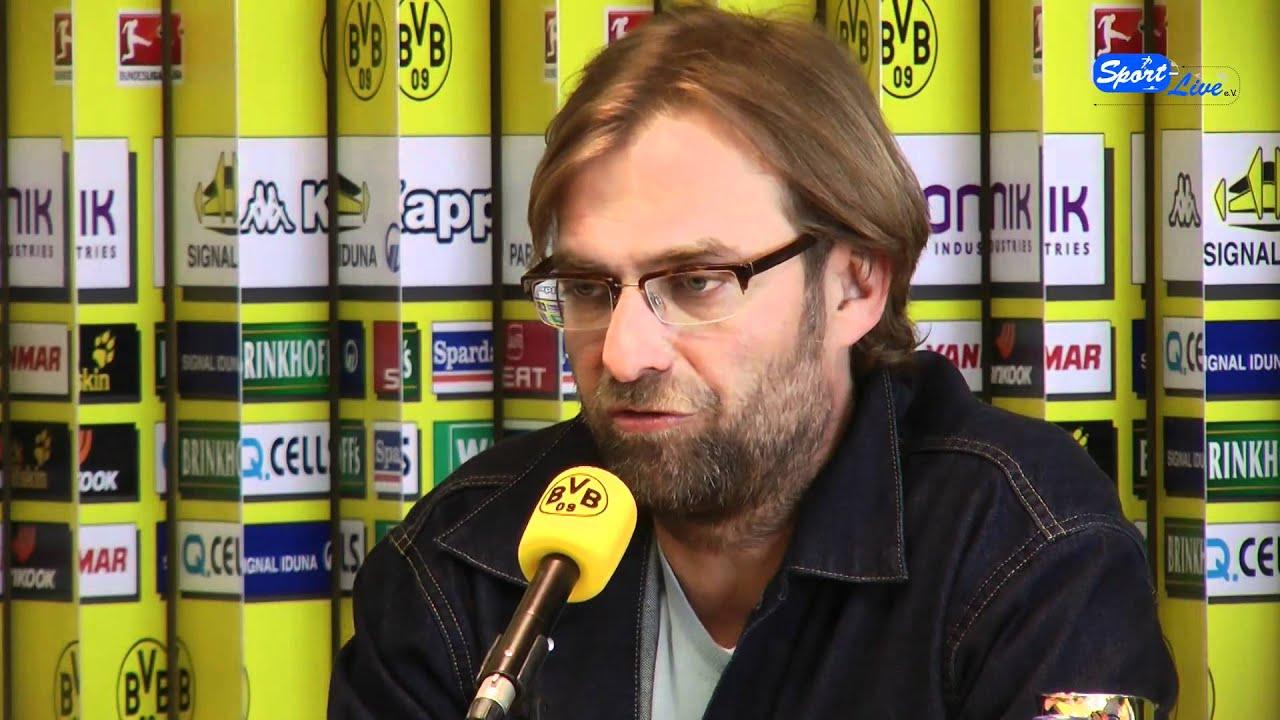 Borussia Dortmund - VfB Stuttgart : Pressekonferenz zum Spiel mit Jürgen Klopp (Teil 1)