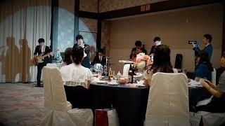 結婚式にて.