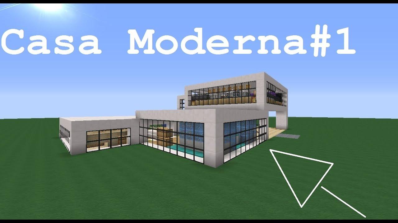 Minecraft como hacer una casa moderna como la de for Como aser una casa