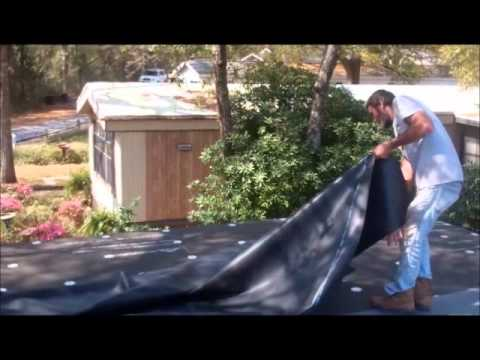 How to install a rubber roof on low slope - YouTube