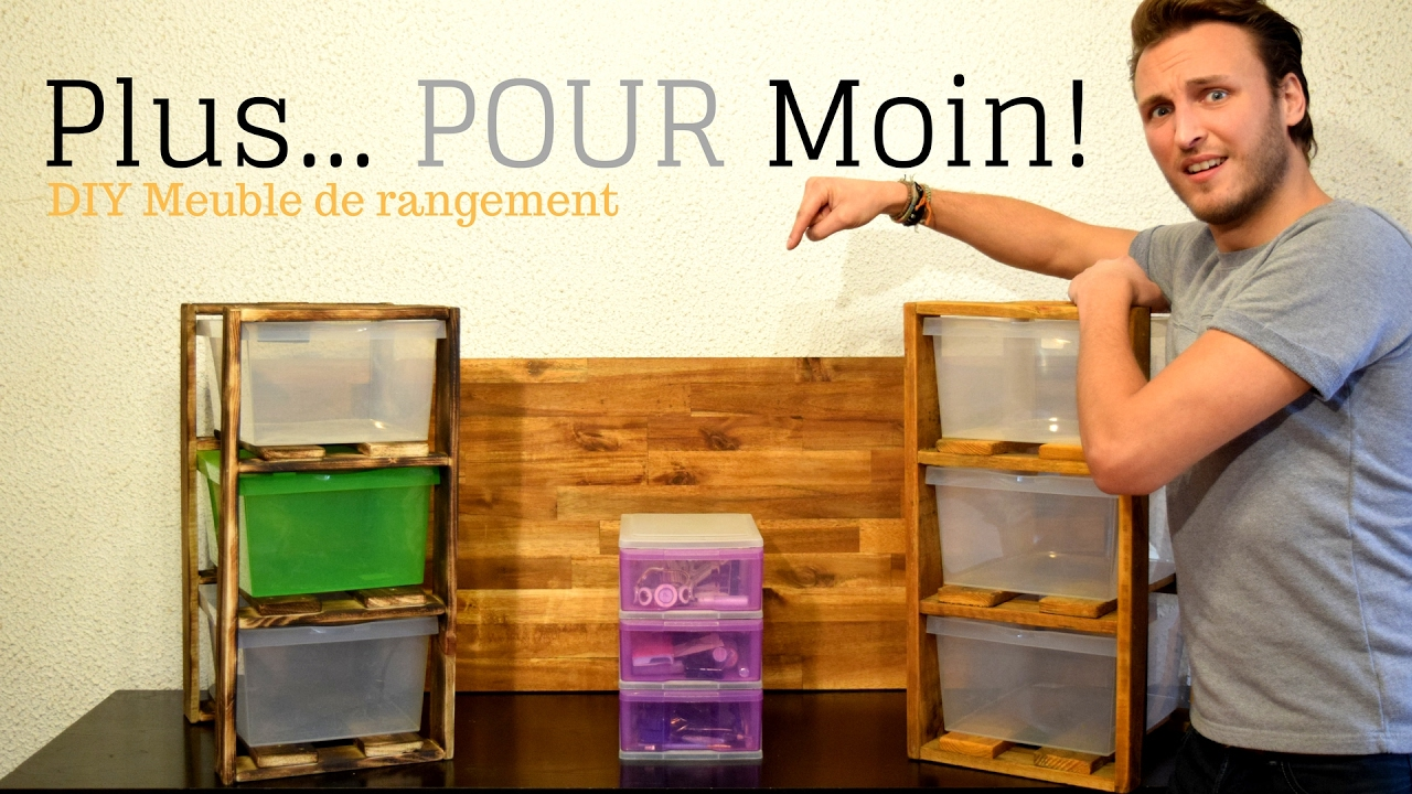 diy meuble de rangement en palette youtube. Black Bedroom Furniture Sets. Home Design Ideas