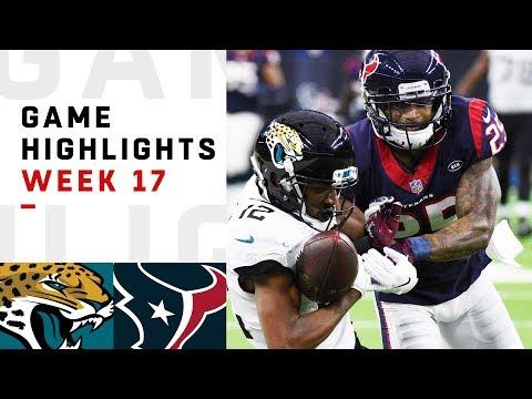 Jaguars vs. Texans Week 17 Highlights | NFL 2018