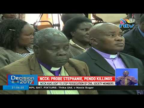 NCCK asks government to stop prosecution of civil society members