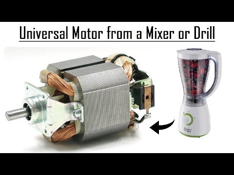 Universal Motor from a Mixer DIY   How to do Connections to Run it !