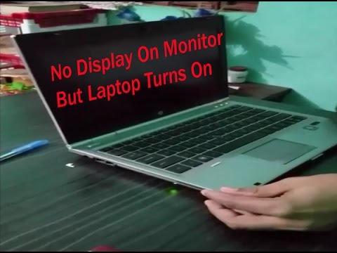 How to Fix: Laptop Turns On But No Display On Monitor || Laptop On But No Display On Monitor,RAM Fix