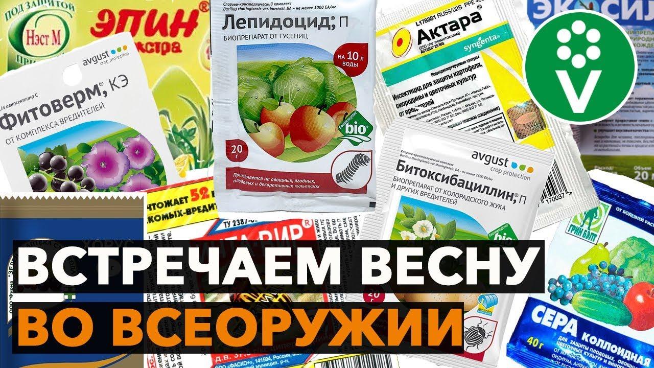 САДОВАЯ АПТЕЧКА! ТОП-20 препаратов для защиты сада