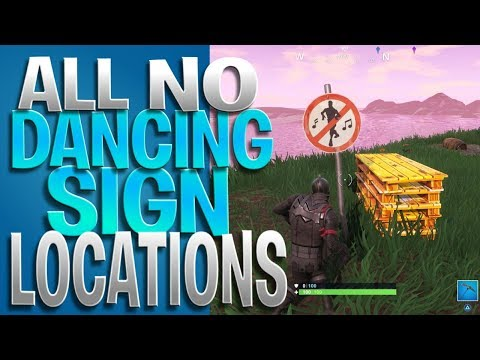 ALL No Dancing Sign Spots - Dance In Forbidden Locations Challenge - Week 2 Battle Pass Challenges
