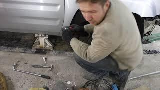 honda ridgeline - удар в колесо. Вытягиваем и ремонтируем бампер
