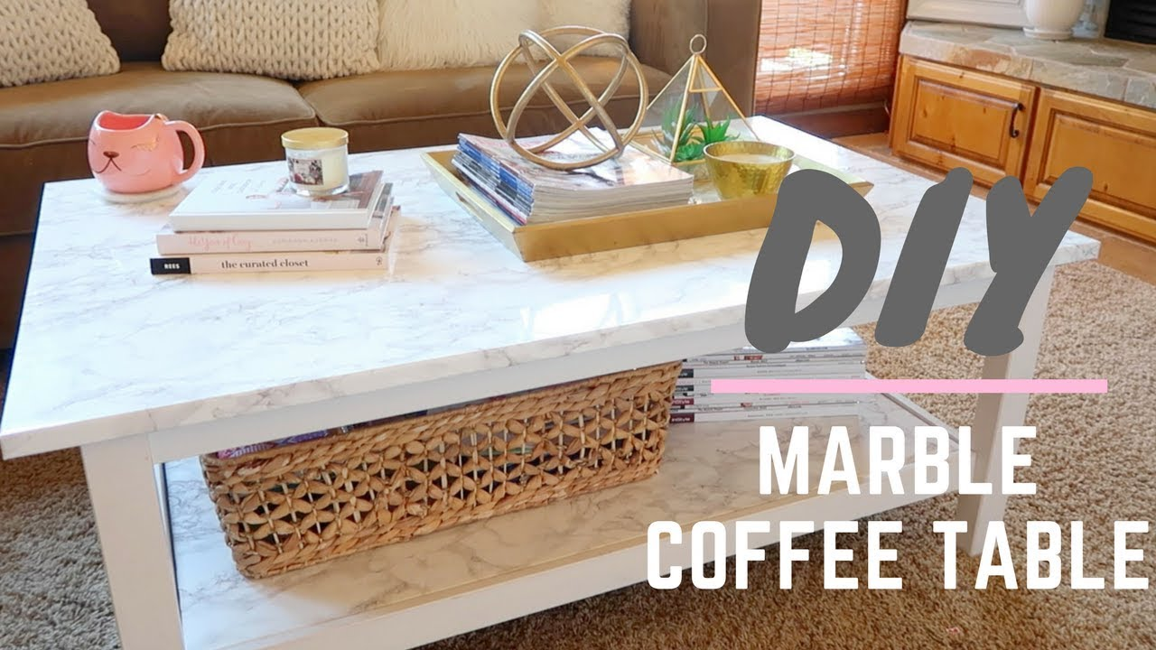 DIY Marble Coffee Table YouTube - Long marble coffee table