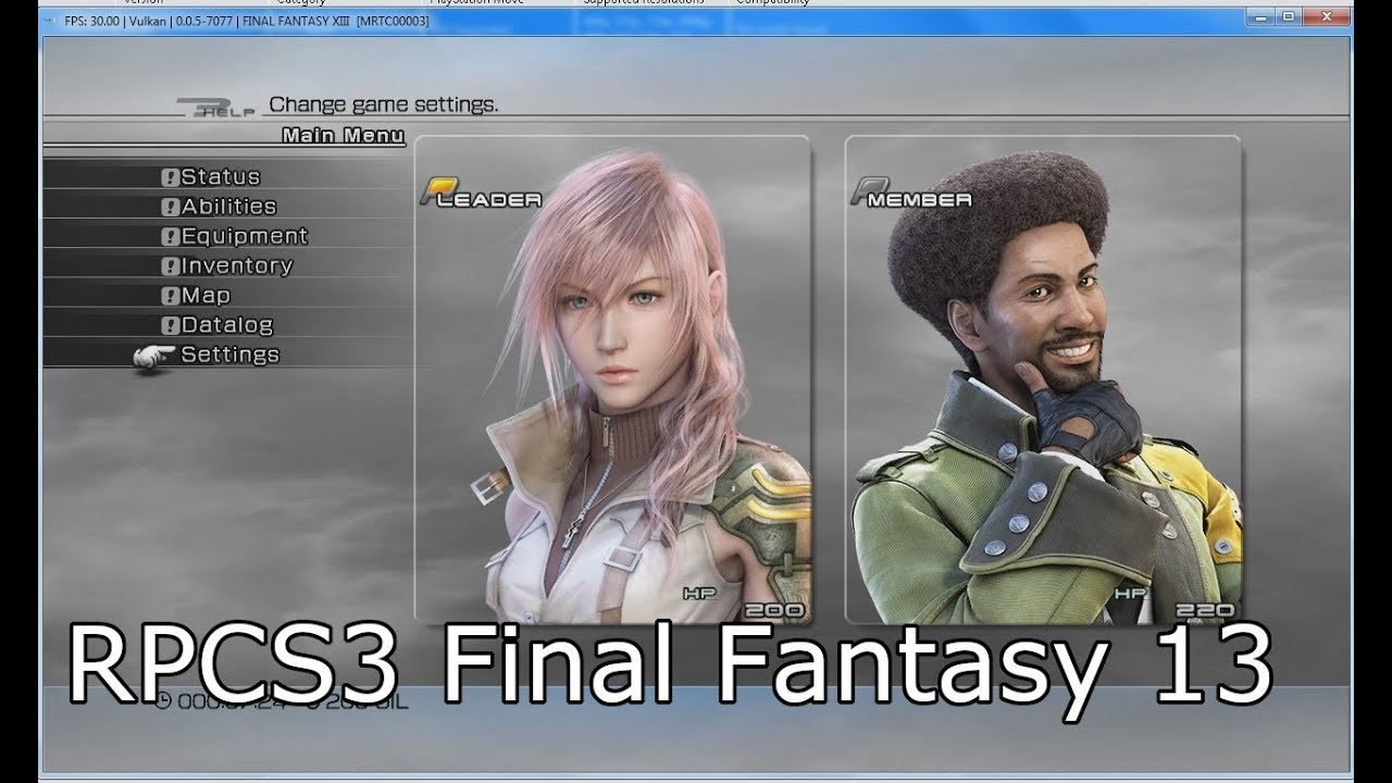 final fantasy xiii ps3 emulator