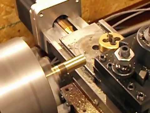 9x20 Lathe CNC conversion cutting first threads