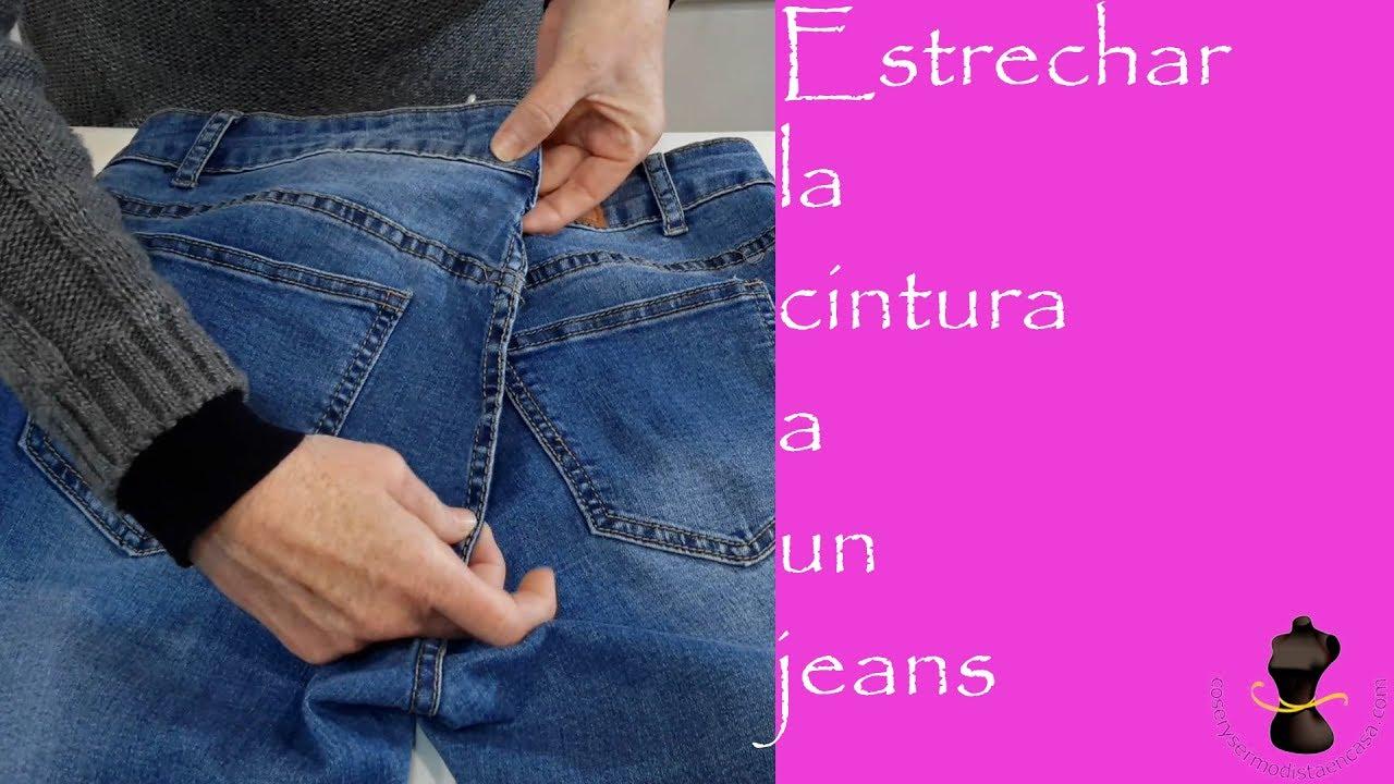 Estrechar La Cintura A Un Pantalón Vaquero Youtube