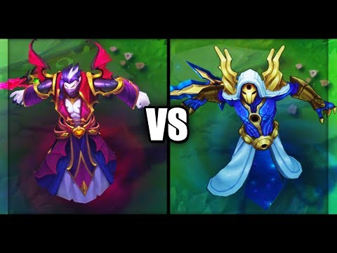 Count Kassadin vs Cosmic Reaver Kassadin Epic Skins Comparison (League of Legends)