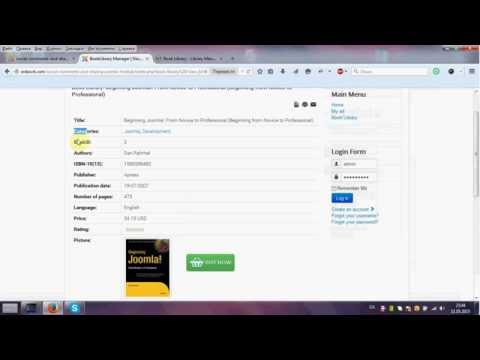 How To Create Menu Item Book Library Library Management Joomla Extension