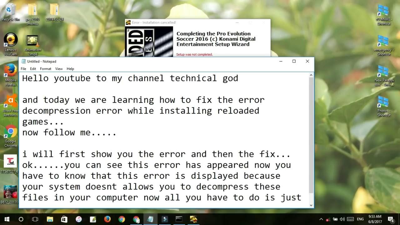 Decompression error -Fixed(100% working 2018)