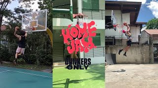 Thirdy Ravena vs Juan GDL vs Jamie Malonzo in HOME JAM | The first-ever stay-at-home dunk contest