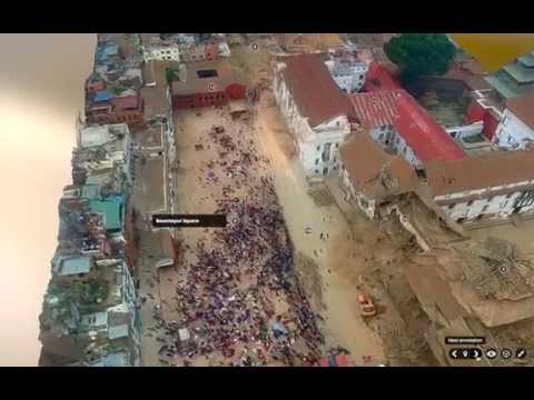Kathmandu 3D Model post earthquake - April 2015