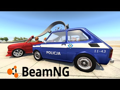 POŚCIGI POLICYJNE MALUCHAMI + NOWE DŹWIĘKI AUT - BEAMNG.DRIVE #33 [PC/PL]