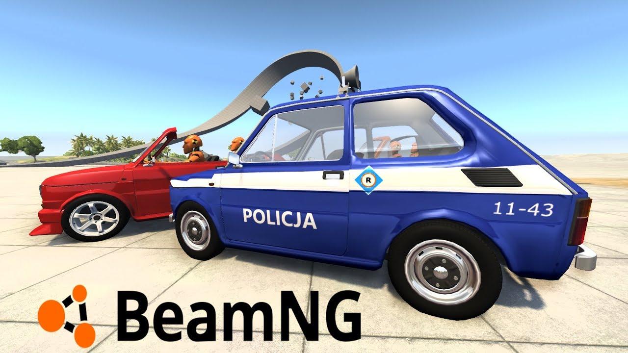 WYŚCIGI POLICYJNE MALUCHAMI + NOWE DŹWIĘKI AUT – BEAMNG.DRIVE #33 [PC/PL]