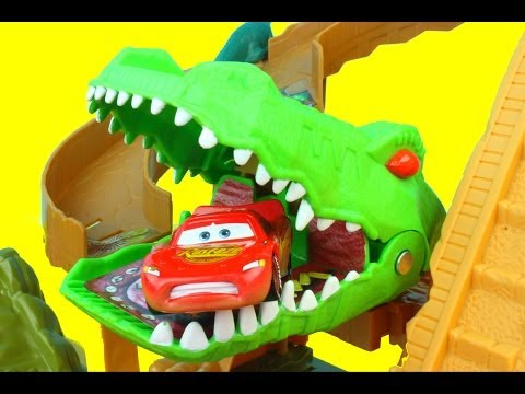 Thumbnail: Matchbox On a Mission: Croc Escape Lightning McQueen gets eaten by Croc Mater saves him Just4fun290