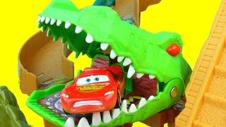 Matchbox On a Mission: Croc Escape Lightning McQueen gets eaten by Croc Mater saves him Just4fun290