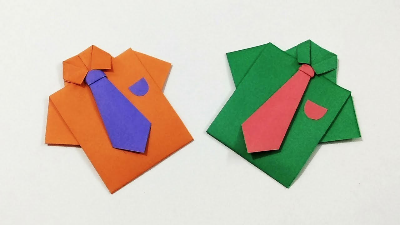 Origami Shirt With Tie | How to Make a Paper Shirt and Tie | Kids ...