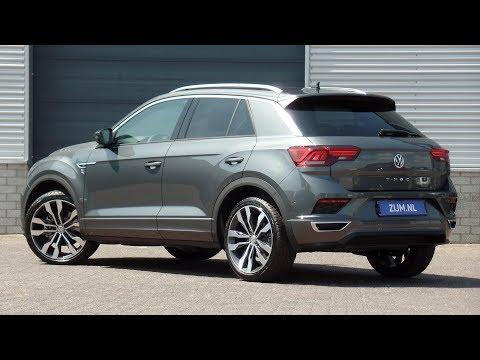 Volkswagen NEW T roc R line 2018 Indium Grey 19 inch Suzuka walk around detail inside