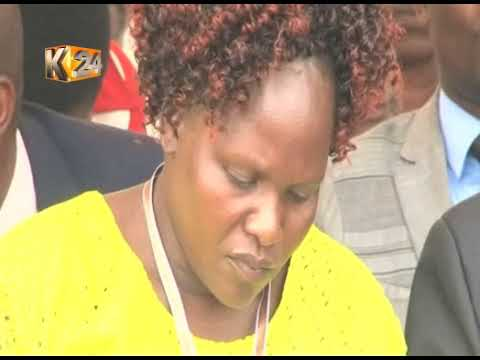 SHARON FAREWELL: Emotions as slain University student is buried