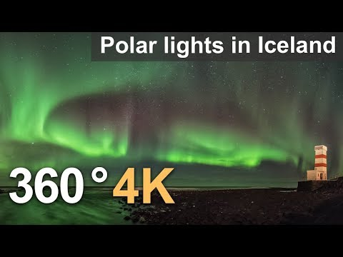 360° video: Polar lights in Iceland