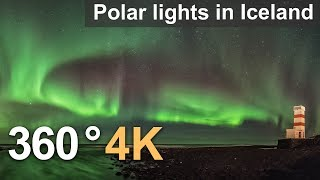 360°, Polar lights in Iceland. 4К aerial video(The polar lights, more commonly known as the northern lights, occur as a result of solar activity: the sun throws out a great amount of its substance, and in a few ..., 2016-03-29T11:31:12.000Z)