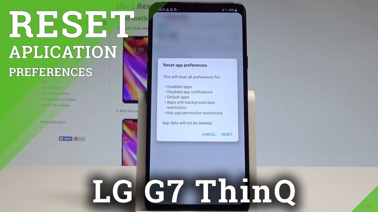 How to Reset App Preferences in LG G7 ThinQ - Restore App Settings  |HardReset Info