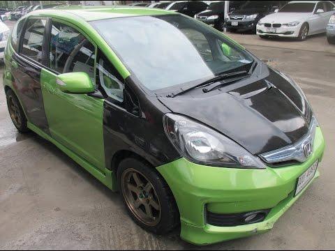 รถราคาถูก รถมือสอง ยี่ห้อ Honda (ฮอนด้า แจ๊ส) รุ่น Jazz สีเขียว ดำ ปี 2008 #No.5