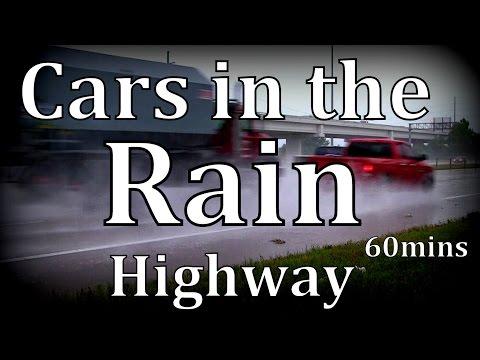 """Cars in Rain"" Highway 60mins ""Sleep Sounds"""