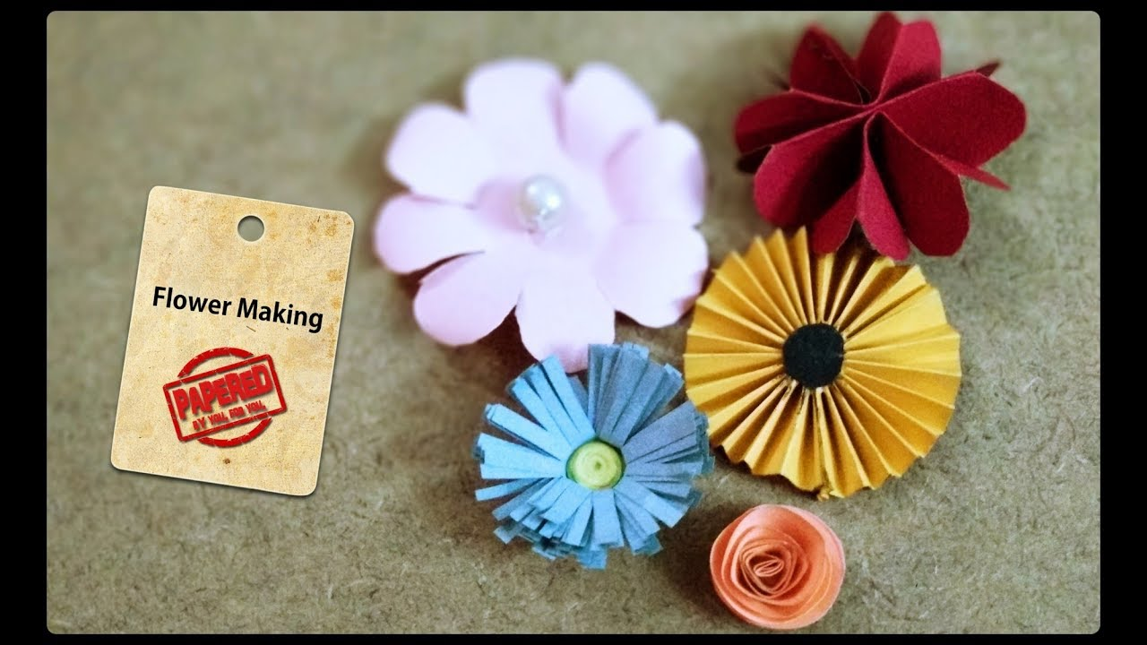 5 types of flower making diy paper flowers papered youtube 5 types of flower making diy paper flowers papered mightylinksfo