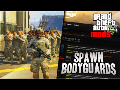 GTA 5 Mod Showcase - SPAWN BODY GUARDS! MAKE AN ARMY! (GTA 5 Mods)