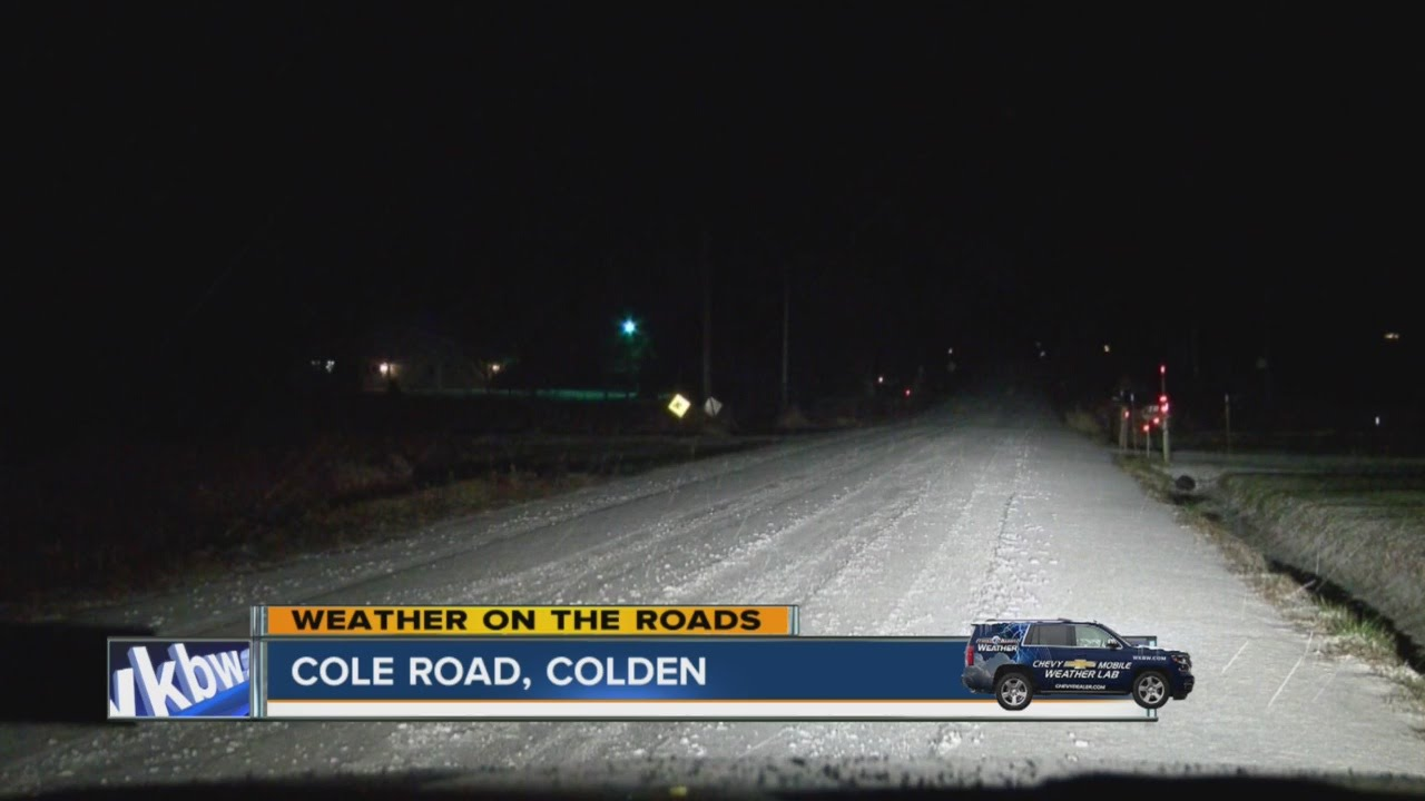 Road conditions in the mobile weather lab on 219 southbound