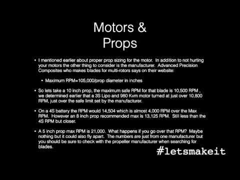 The Math When Building A Multirotor (Quadcopter) - Let's Make It - Episode 75 - Alixa.tv