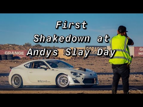 LS FRS FIRST SHAKEDOWN!! (Andy's Slay Day Drift Event at Apple Valley Speedway)