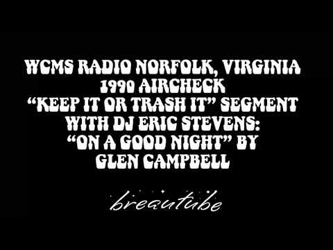 WCMS Radio Norfolk Virginia 1990 Aircheck/Glen Campbell