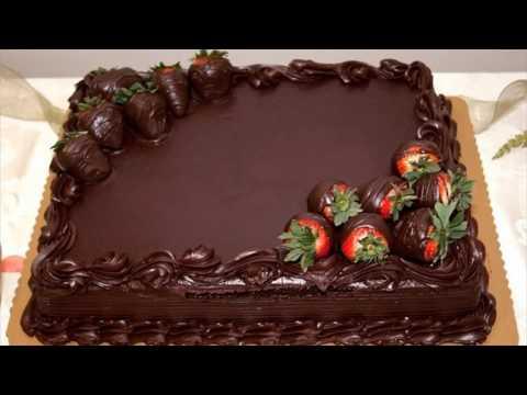 Happy New Year Strawberry Cake Wallpaper