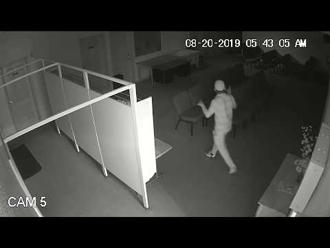 Suffolk County Crime Stoppers and Suffolk County Police Second Squad detectives are seeking the public's help to identify and locate the man who burglarized a Huntington Station church last month.