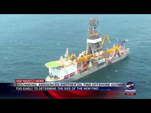 EXXONMOBIL ANNOUNCES ANOTHER OIL FIND OFFSHORE GUYANA