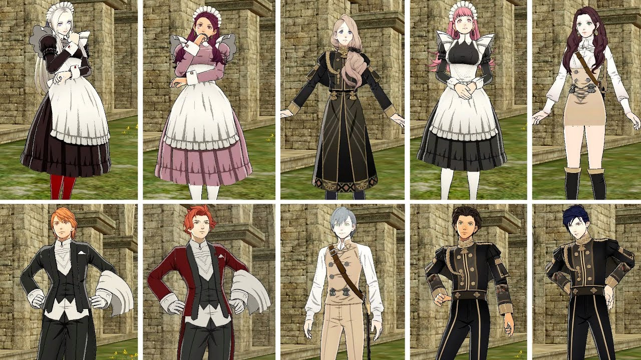FE Three Houses - All New DLC Costumes (7.7.7)