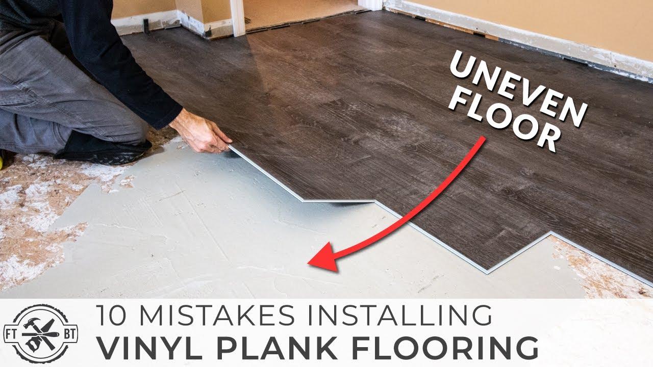 10 Beginner Mistakes Installing Vinyl Plank Flooring Youtube