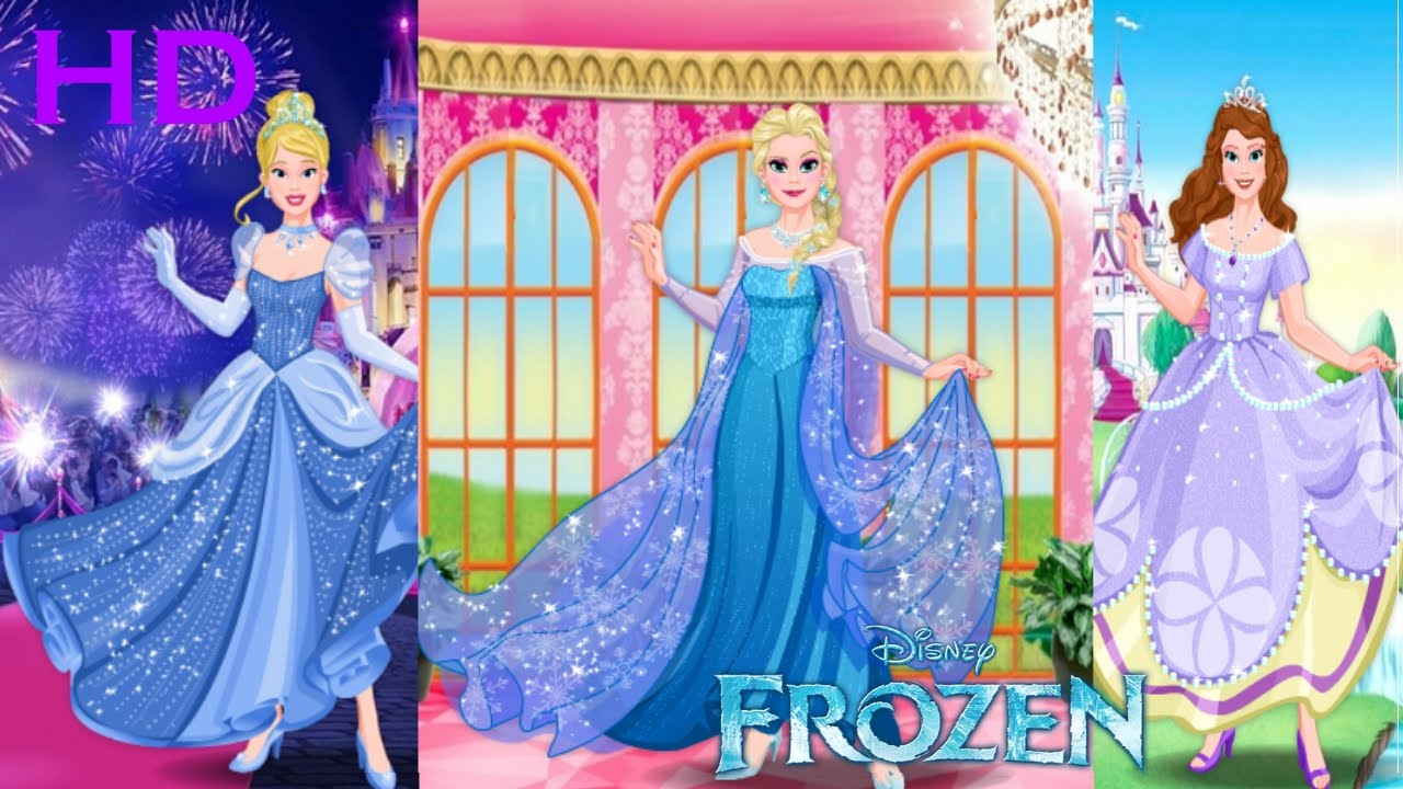 disney princess frozen elsa barbie cinderella belle