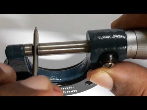 HOW TO USE A MICROMETER SCREW GAUGE (IN URDU /HINDI)