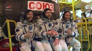 Экипажи провели первую «примерку» корабля «Союз МС-11»