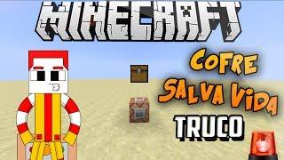 Minecraft Truco | Cofre Salva Vidas - Cofre Cayendo Del Cielo
