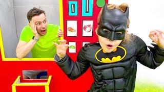 Five Kids Superheroes vending machine Children Song